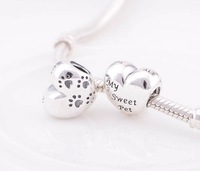 925 Sterling Silver My Sweet Pet Charm Bead Fit European Jewelry Bracelets Necklaces & Pendants