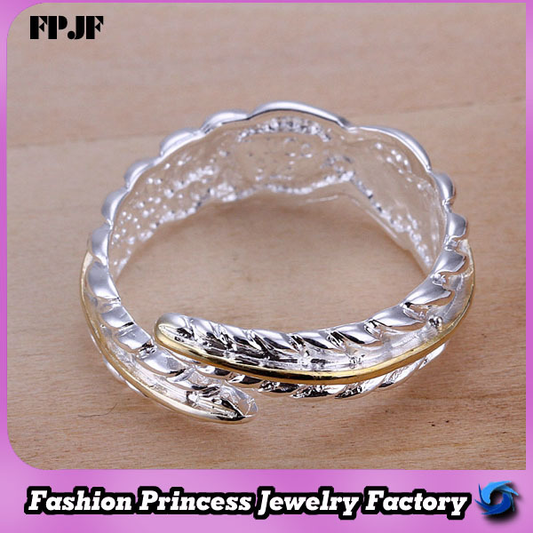 2014 Fashion new style silver 925 plated indian engagement rings with names,brand MR020(China (Mainland))