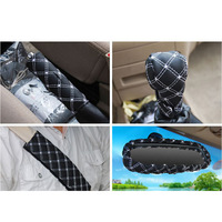 Gear automatic/manual covers a handbrake car hand brake set of rearview mirror set of five sets