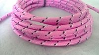 1pc/lot 2m Pink Braided Cable USB Extension Cable V8 Data Line Mobile Phone Cable