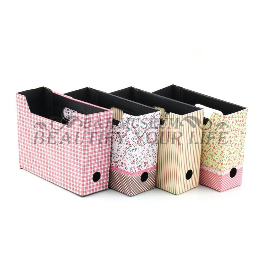 1Pcs Desk Decor Organizer Cute DIY Paper Board Storage Box Makeup Cosmetic Stationery(China (Mainland))