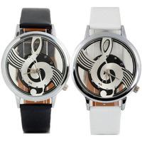 Fantastic ! New Arrival Geneva Watches Note Music Notation Leather Quartz Wristwatch Free Shipping & Wholesales Feida