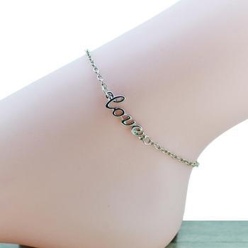 Сексуальная мода женщин любовь ножной браслет позолоченные и посеребренные U выбрать ...