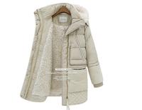Large Size Winter Jackets Thick Lamb's Wool Winter Coat Women Clothes Winter Jacket Female In Long Down Jacket  Women Parka E 33