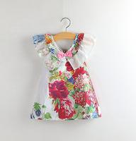 Retail spring new 2014 girls clothing mother daughter wear roupas de bebe menina bebe children girl princess Classic dress 2201#