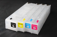 4pcs/set 970/971 Empty Refillable cartridge for HP officejet pro x451 x476 x551 x576 printer with permanent chips show ink level
