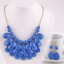 Women s Jewelry Necklace Earrings Acrylic Waterdrop Jewelry Decoration Sets Sweet Style Earrings 2PMHM183 55
