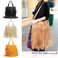 VEEVAN 2014 women handbag bolsas women leather handbag female bags tassel women shoulder cross-body bag messenger bags totes