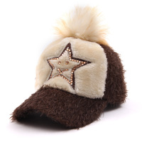 The new winter fashion hip-hop star box drill woolen cap baseball cap hats wholesale Miss Han Ban