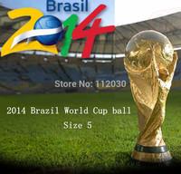 Free shipping 2014 Brazil World Cup Ball  Brazuca Samba Soccer Football Glory Gold Size 5 Football G84000
