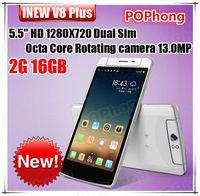 Android 4.4 mtk6591 hexa core inew v8 5.5 inch HD 1280*720 1G RAM 16G ROM rotating camera 13.0MP