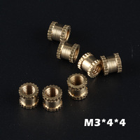 brass nut,inner diameter 3mm,outer diameter 4mm,length 4mm