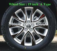 Black Carbon Fiber Vinyl Wheel Hub Sticker For MAZDA CX-5 CX5 2012 2013 External Decal Car Styling