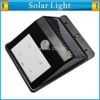 Solar Powered Waterproof 4 LED Motion Sensor Garden Path Wall Light Induction PIR Security Led Light Lamp Outdoor