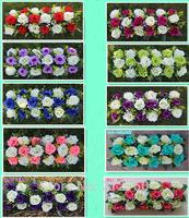 High density Artificial wedding silk rose arch flower decorative wedding flower frame in a row wedding props 5pcs/lot Z1163