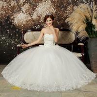 2014 spring wedding dress sweet princess wedding dress tube top wedding dress