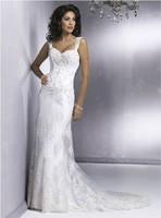 On sale new formal floor-length wedding dress spring 2014 white chiffon long design wedding gowns long hot dresses