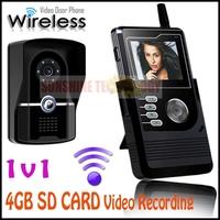"Home Security 2.4G Wireless Video Door Phone Intercom Doorbell Camera with 2.4"" handset LCD Monitor Wholesale & Retails 1v1"