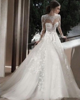 2015 Elegant  Backless Wedding Dress  Applique Lace Long Sleeves Bridal Dresses Wedding Gowns Vestidos de Noiva  Z 0011