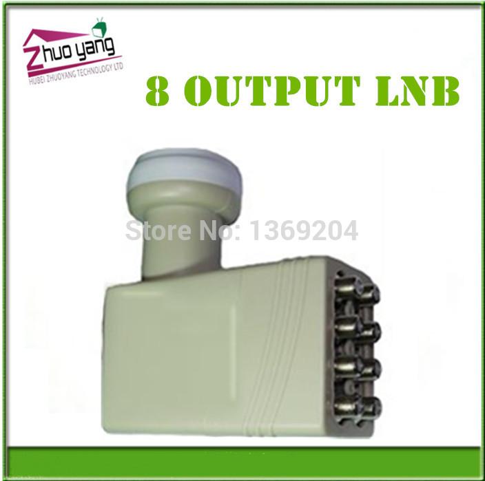 Lnb 8 OUTPUT LNB Universal banda Ku univeral octo LNB lnbf quad de 8 saída kuband banda C para a américa do sul europa grátis frete(China (Mainland))