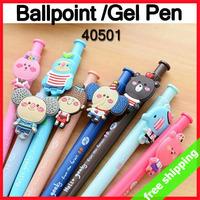 FREE SHIPPING Cartoon Creative Cute Ballpoint Pen Gel Pen Lovely Elephant Girl Stationery Prize say hi 40pcs/lot 40501