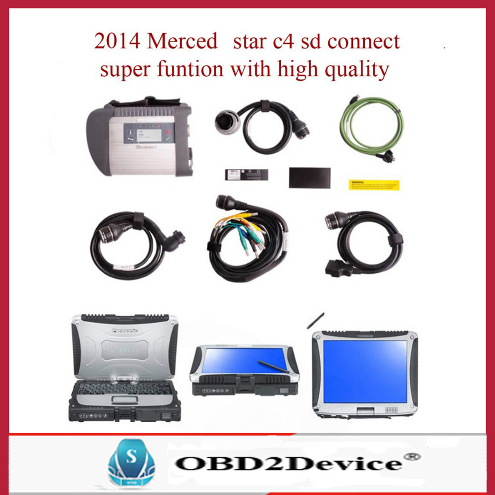 best quality mb star c4 with stable laptop Panasonic tough book shipping DHL free warranty quality(China (Mainland))