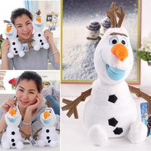 "2014 9"" Frozen Olaf Snowman New Coming Big Size Plush Toys Snowman Cartoon Stuffed & Plush Animals #6 SV004036(China (Mainland))"