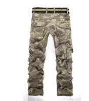 European and American Hot water waves washed overalls camouflage pants big yards thick multi-pocket pants MZA145 Y1T