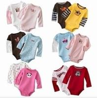 Baby Romper jumpsuit climbing clothes long sleeve cotton Romper 5pc/1 lot