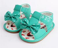 2014 hot sale baby summer sandals antiskid infant shoes for girls kids prewalker toddler girls shoes spot shoes