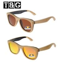 Beige Black Mirrored Wood Glasses Womens Sunglasses Brand Designer Polarized Sunglasses Men Oculos De Sol Femininos Madeira
