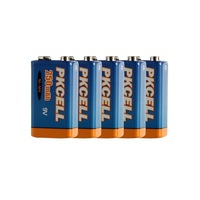 5Pcs Bulk  Prismatic Rechargeable  Ni-MH  9V 250mAh  Battery-PKCELL