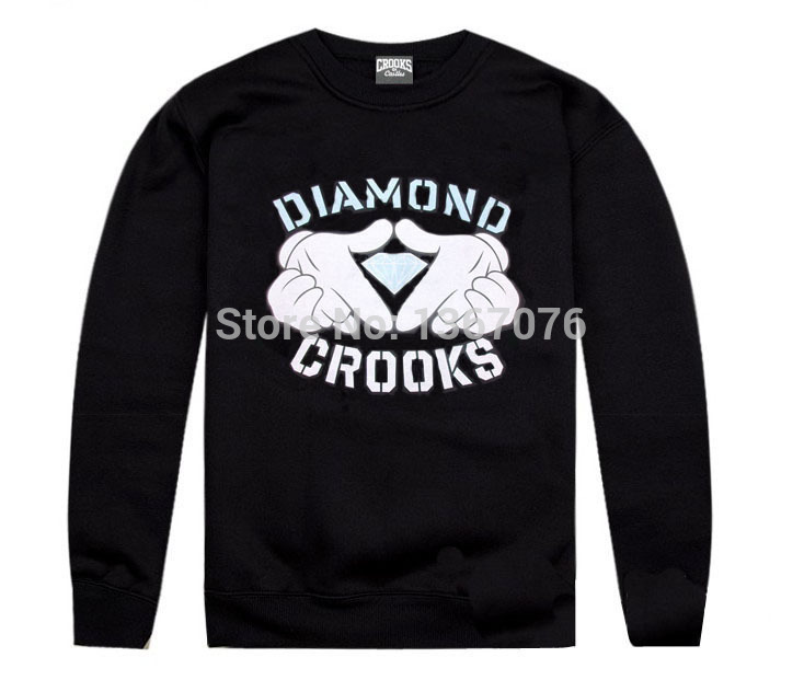Crooks and Castles sweatshirt diamond fashion hip hop hoodie mens clothes sportswear hiphop pullover sweats brand crooks stylish(China (Mainland))