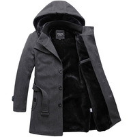 Outerwear Slimming Man Thick Clothes Wool coat men Outdoor Warm  Woolen Coat Winter Jacket