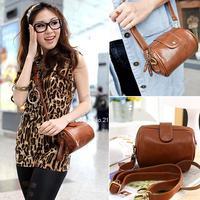 2014 Fashion Handbag Leather mobile phone mini women messenger bag vintage shoulder bag Button Bag Clutch Handbag B12 SV005634