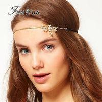 Black Elastic Ribbon Rhinestone Gold Dragonfly Shape Casual/Sporty Designer Headbands Hair Jewelry Hairwear For Women