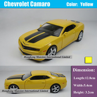 1:36 Scale Alloy Diecast Metal Car Model For Chevrolet Camaro Bumblebee Collection Model Pull Back Car Toys - Yellow