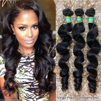 Brazilian Virgin Hair Loose Wave Natural Black Hair Ms Lula Hair 100% Unprocessed Virgin Brazilian Hair Weave Bundles 3Pcs Lot