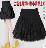 free shipping  female bust skirt short skirt women's pleated skirt  full plus size puff skirt