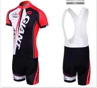 2014 Caisi Giant Cycling Clothing +Cycling (Bib )Shorts Set New 2014 Giant Cycling Clothing / Jersey Bib Shorts