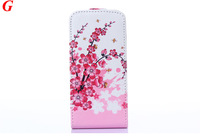 Flower Design Pattern Design Leather Flip Cover Case For iPhone 4 4S 5 5S 5C Phone Bag Free Screen Flim and Stylus