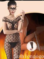 BodyStockings Mesh Socks Pattern Coveralls Socks Export Sexy Lingerie Black Set