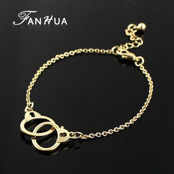 Оптовая продажа панк-рок золото и серебро сплава цвета мило цепи наручники браслеты ...