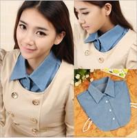 Bule Detachable Collar, 2014 New Fashion False Shirt Collar For womens Apparel Accessories, Wholesale,Free shipping
