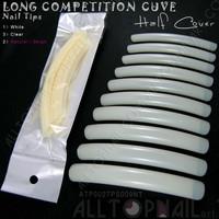 False Nail Tips Long Natural Competition 20 Packs Professional Extreme Long Curve Salon Nail Tips - Free Shipping