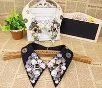 Fashion detachable collars  button handmade false collar  factory direct JL#298