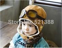 Bomber Hats Winter baby earflap,Pilot cap, children hats boys, flight caps, Free Shipping