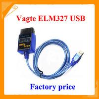 2014 Newest 100% Vgate USB ELM327 OBD2 / OBDII ELM 327 V2.1 highest quality fact direct selling