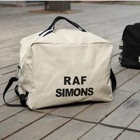Large capacity canvas women's men's handbag double-shoulder travel letter print messenger bag casual black beige free shipping