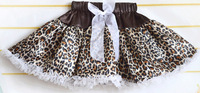 girl leopard skirt baby leopard skirt children pettiskirts kids girls ball gown bowknot skirt princess skirts children set cd01